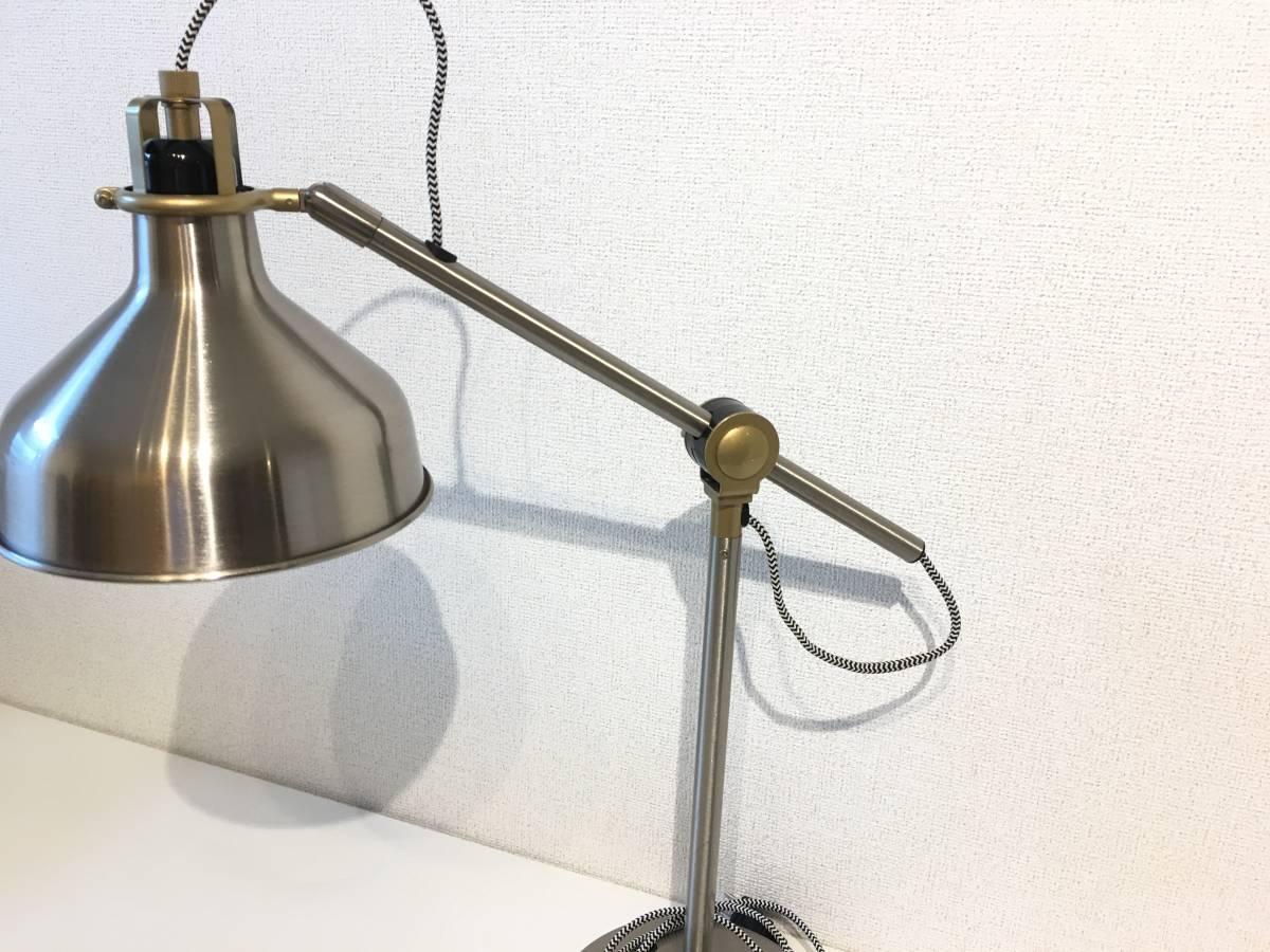 [美品]IKEA イケア RANARP 廃盤 レア 希少 ワークランプ 間接 照明 ステンレス 無機質 インテリア インダストリアル 北欧[廃盤カラー]_画像4