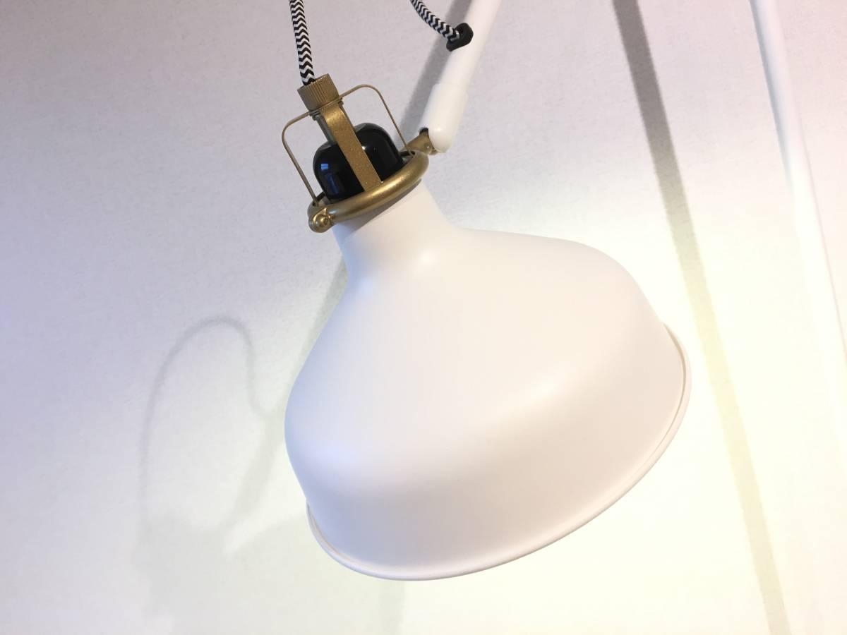 [美品]IKEA RANARP フロアランプ 間接 照明 ライト 読書 ラウンジ オフホワイト 白 無機質 インテリア 北欧[IKEA無印良品大量出品中♪]_画像2