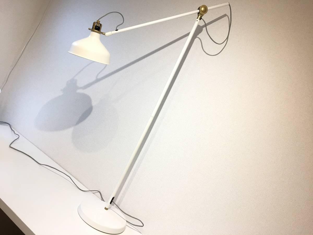 [美品]IKEA RANARP フロアランプ 間接 照明 ライト 読書 ラウンジ オフホワイト 白 無機質 インテリア 北欧[IKEA無印良品大量出品中♪]
