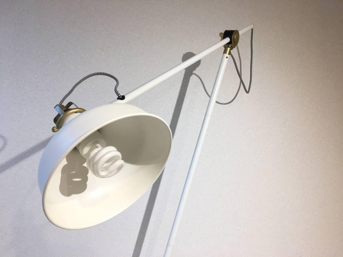[美品]IKEA RANARP フロアランプ 間接 照明 ライト 読書 ラウンジ オフホワイト 白 無機質 インテリア 北欧[IKEA無印良品大量出品中♪]_画像3