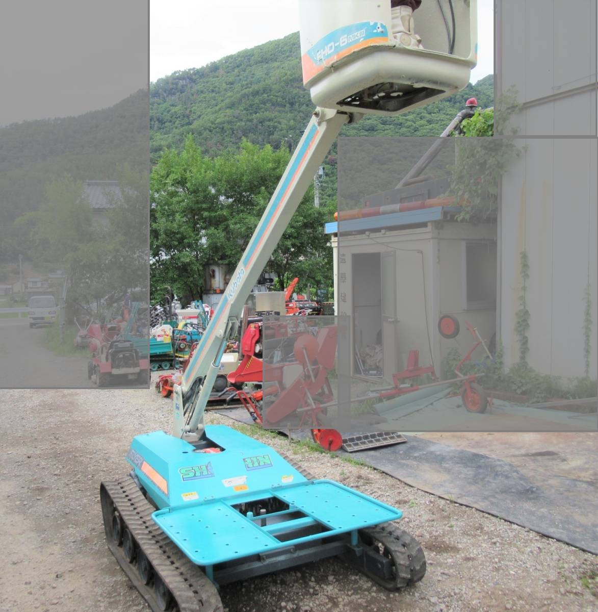 クボタ 高所作業車 FHD-6 MK‐Ⅲ 実働品 長野市_画像9