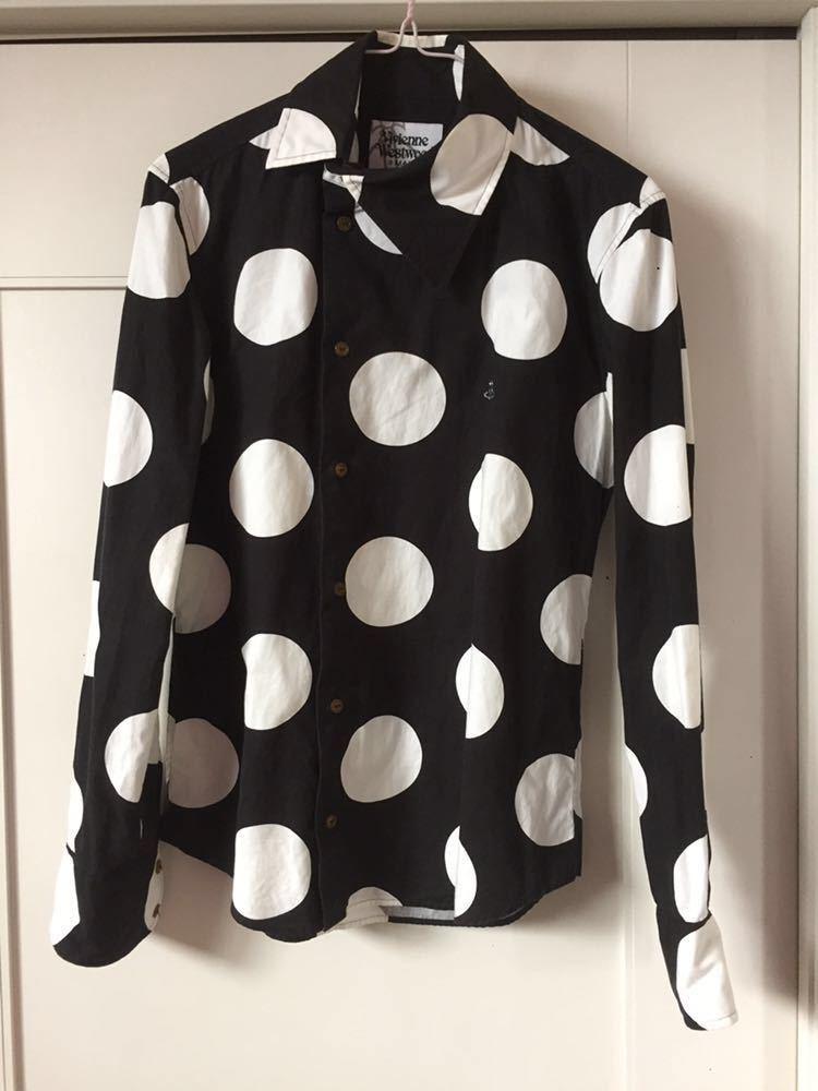 ヴィヴィアン ウエストウッド マン スポット柄 水玉 ドットシャツ Vivienne Westwood MAN