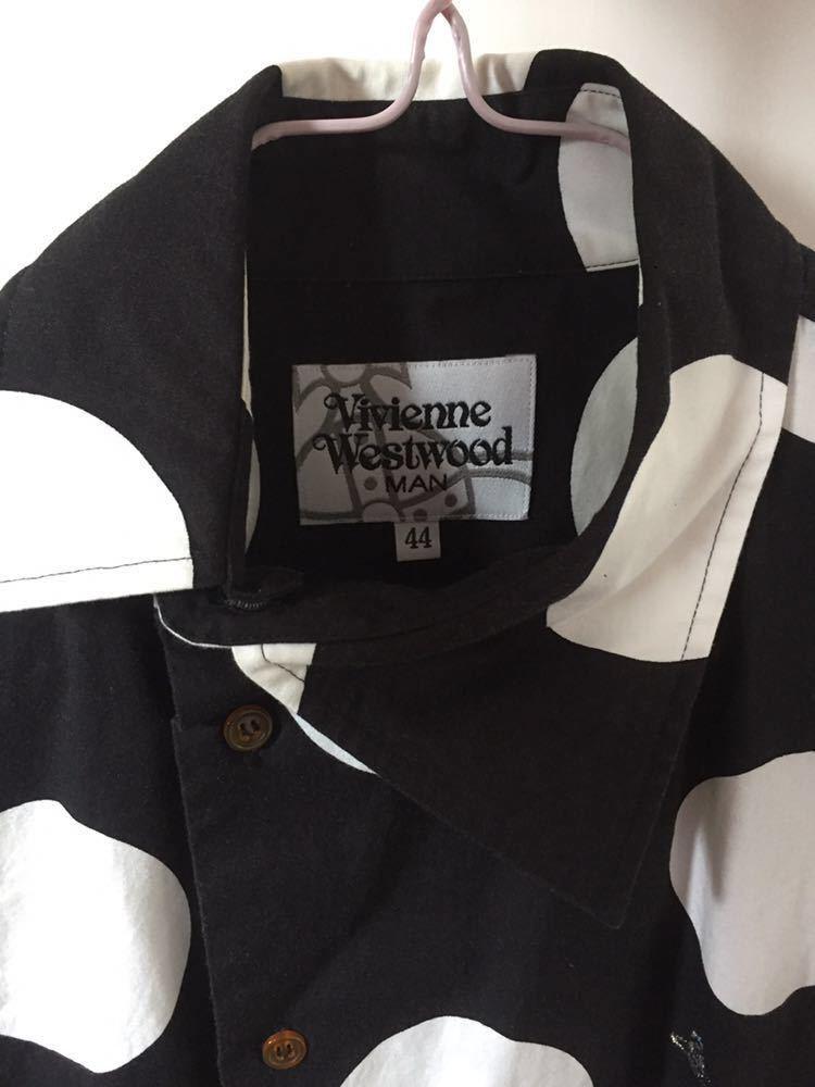 ヴィヴィアン ウエストウッド マン スポット柄 水玉 ドットシャツ Vivienne Westwood MAN_画像3