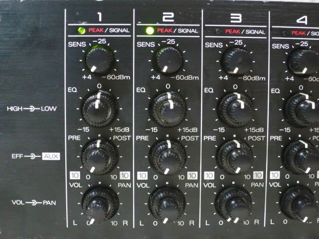 Roland 2Uラックマウント12chラインミキサー M-12E 動作品 高音質 EQ 2AUX キーボードミキサー ローランド ラックミキサー_画像4