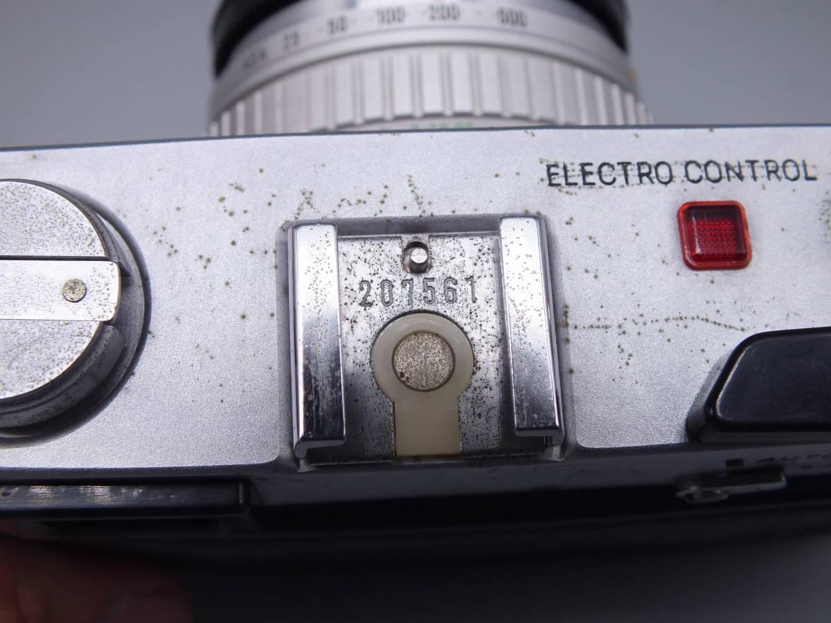 MINOLTA ミノルタ/HI-MATIC E/レンジファインダー/レンズ ROKKOR-QF 40mm 1:1.7/動作品/フィルムカメラ/キャップ付属/管D0722_画像8