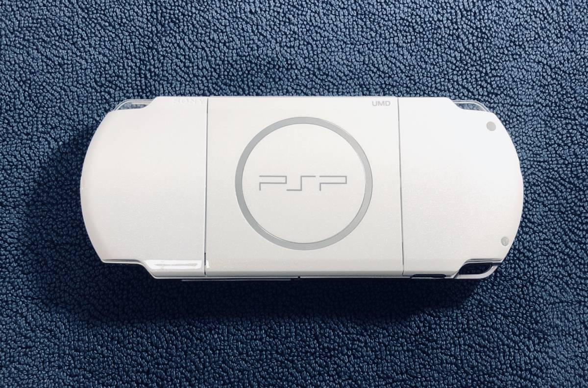 ★ほぼ新品 極上品★ PSP 3000 PSP3000 パールホワイト Pearl white 付属品完備 即決_画像4