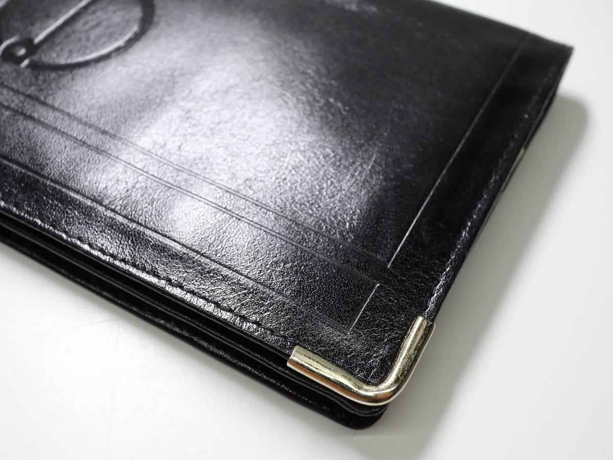 ◆全国送料無料◆即落◆dunhill◆ダンヒル dマーク 黒 札束入れ シンプル 長財布 ブラック◆カード収納(11枚)_画像3