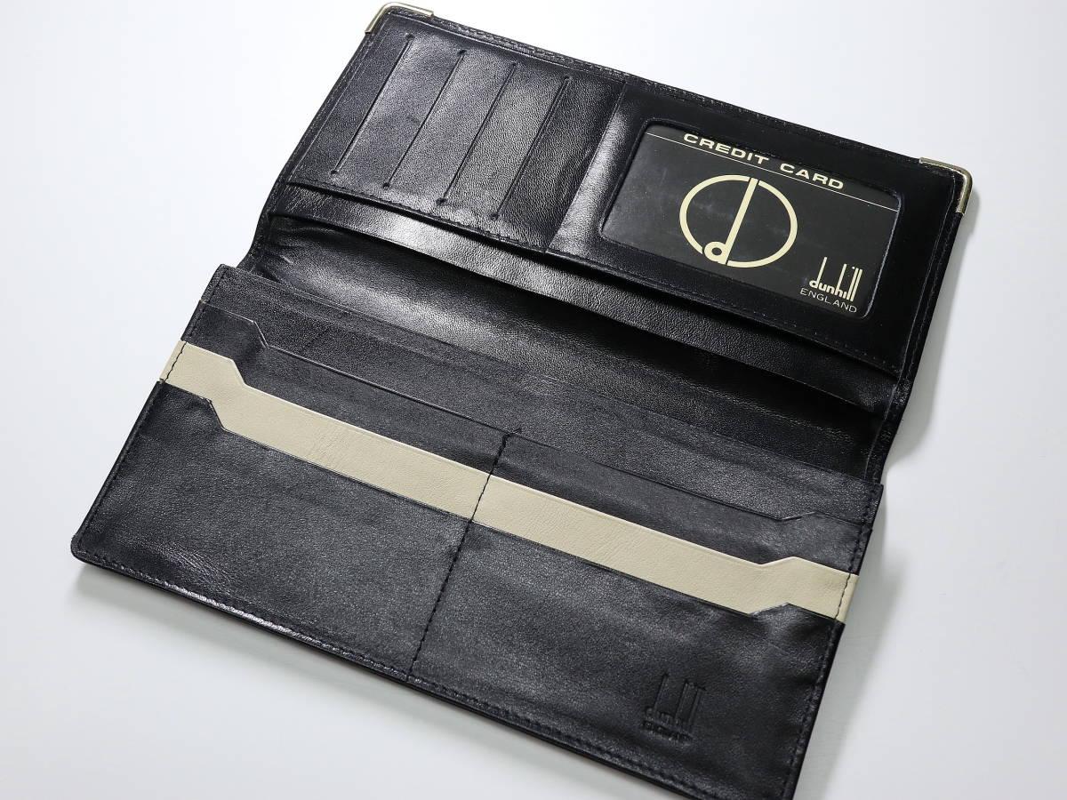 ◆全国送料無料◆即落◆dunhill◆ダンヒル dマーク 黒 札束入れ シンプル 長財布 ブラック◆カード収納(11枚)_画像4