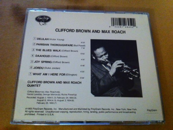 Clifford Brown And Max Roach★輸入盤 クリフォード・ブラウン マックス・ローチ_画像2