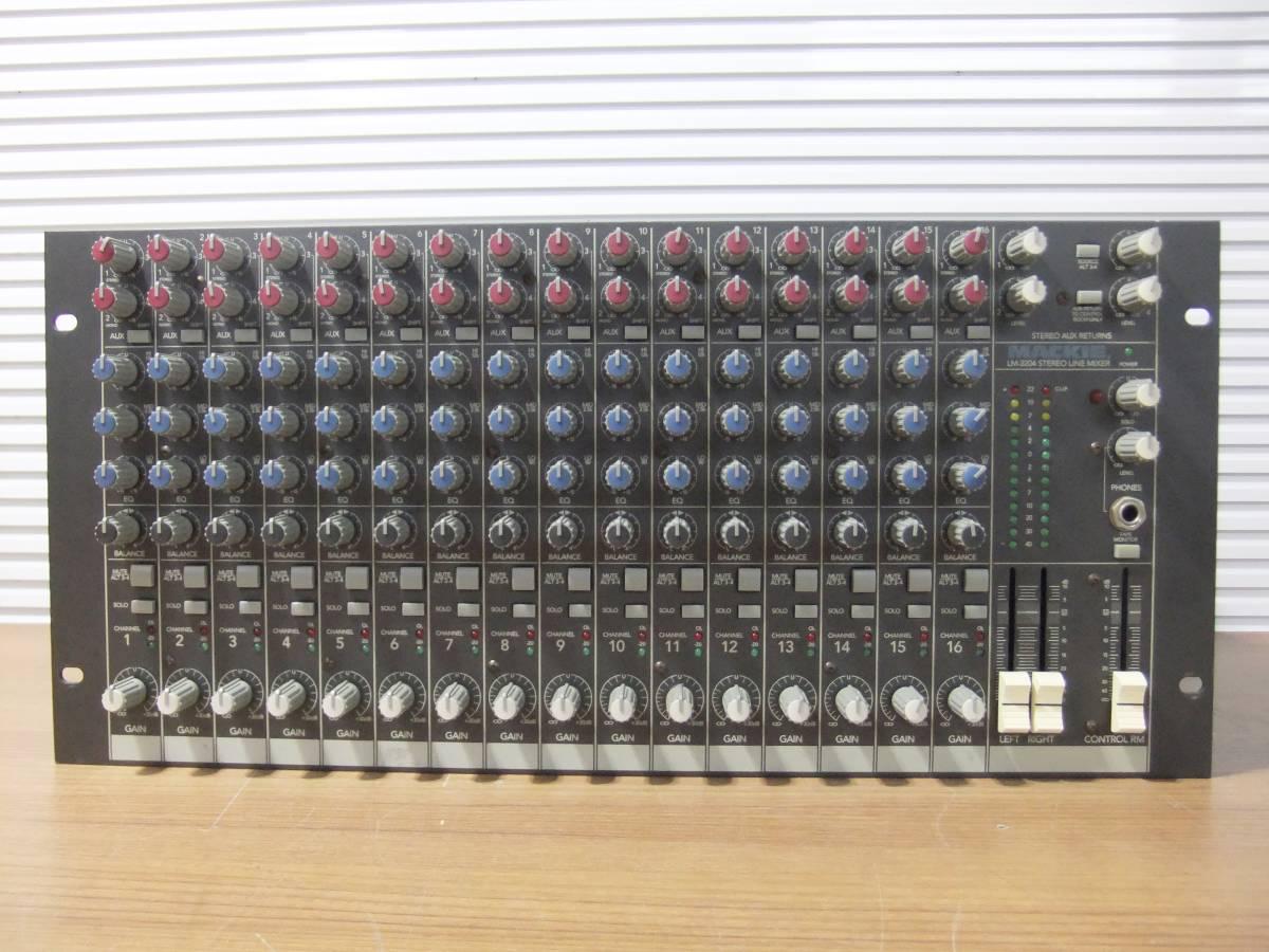 E1F肆◎【中古品】LINEミキサー MACKIE LM-3204 16chステレオ アナログラインミキサー_画像2