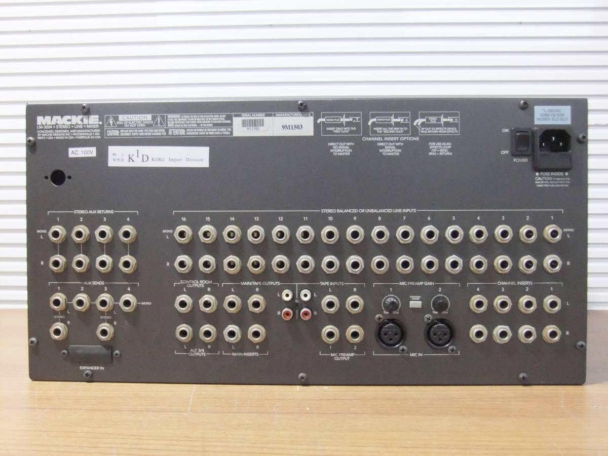 E1F肆◎【中古品】LINEミキサー MACKIE LM-3204 16chステレオ アナログラインミキサー_画像5