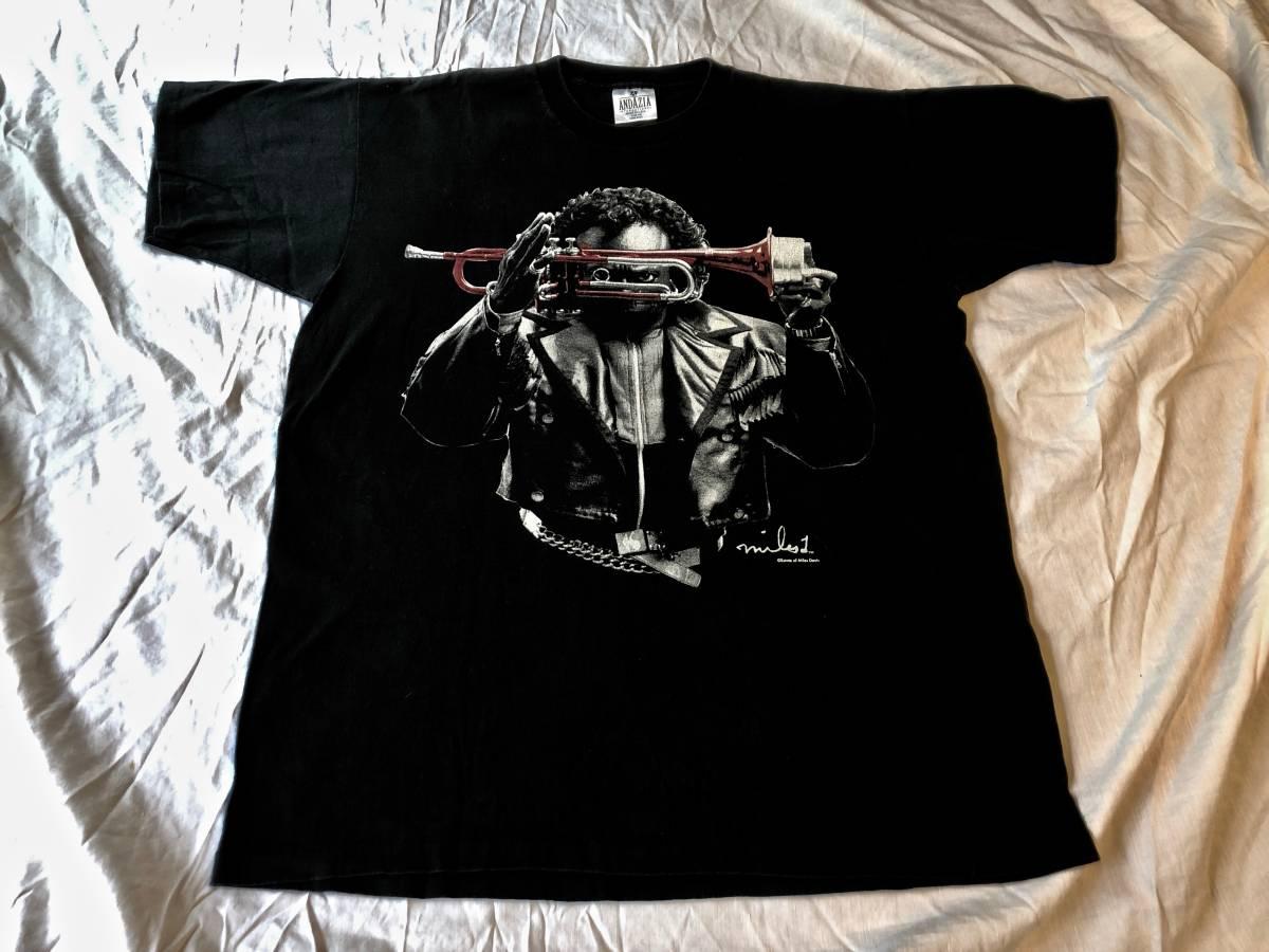 ヴィンテージ マイルスデイビス Tシャツ ブラック ムービー 映画 チェットベイカー ジャズ T バンドT 古着 80s 90s