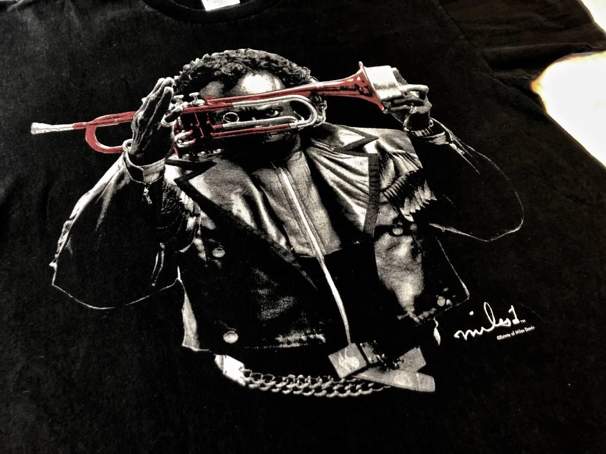 ヴィンテージ マイルスデイビス Tシャツ ブラック ムービー 映画 チェットベイカー ジャズ T バンドT 古着 80s 90s_画像2