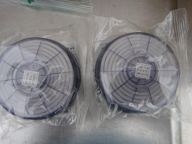 ●未使用 KOKEN サカヰ式 防毒マスク 5個 +吸収缶17個+防じんマスク2個_画像8
