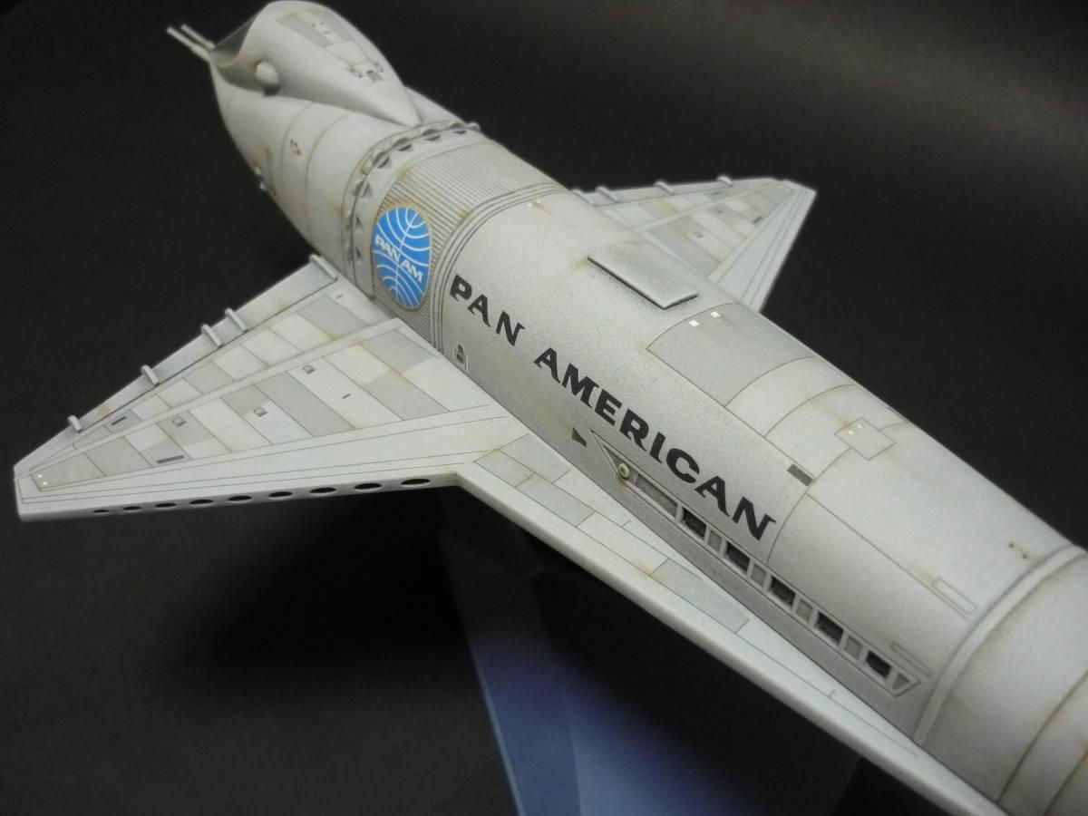 メビウスモデル 2001年宇宙の旅 オリオン号 完成品(スペースクリッパー ディスカバリー号 ムーンバス スペースポッド プロテウス号)_画像2