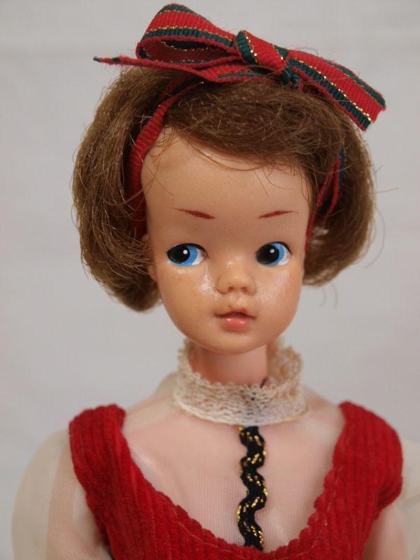 当時物◆浅草玩具サンディちゃん着せ替え人形 ドール/日本製/オリジナル洋服/赤ワンピース/昭和レトロ/ビンテージ/タミーちゃん似/女の子_画像3