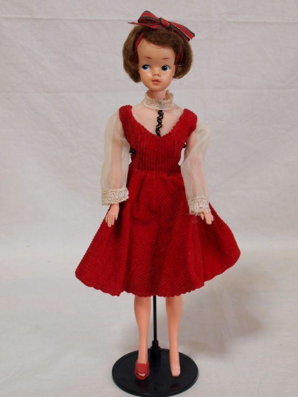 当時物◆浅草玩具サンディちゃん着せ替え人形 ドール/日本製/オリジナル洋服/赤ワンピース/昭和レトロ/ビンテージ/タミーちゃん似/女の子