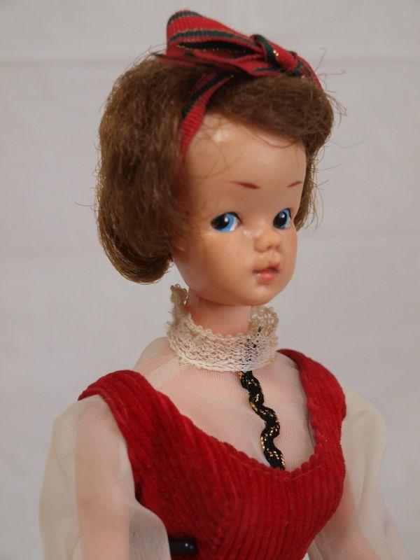 当時物◆浅草玩具サンディちゃん着せ替え人形 ドール/日本製/オリジナル洋服/赤ワンピース/昭和レトロ/ビンテージ/タミーちゃん似/女の子_画像4
