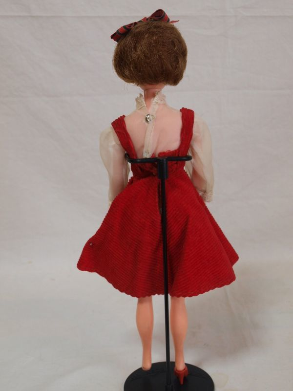 当時物◆浅草玩具サンディちゃん着せ替え人形 ドール/日本製/オリジナル洋服/赤ワンピース/昭和レトロ/ビンテージ/タミーちゃん似/女の子_画像2