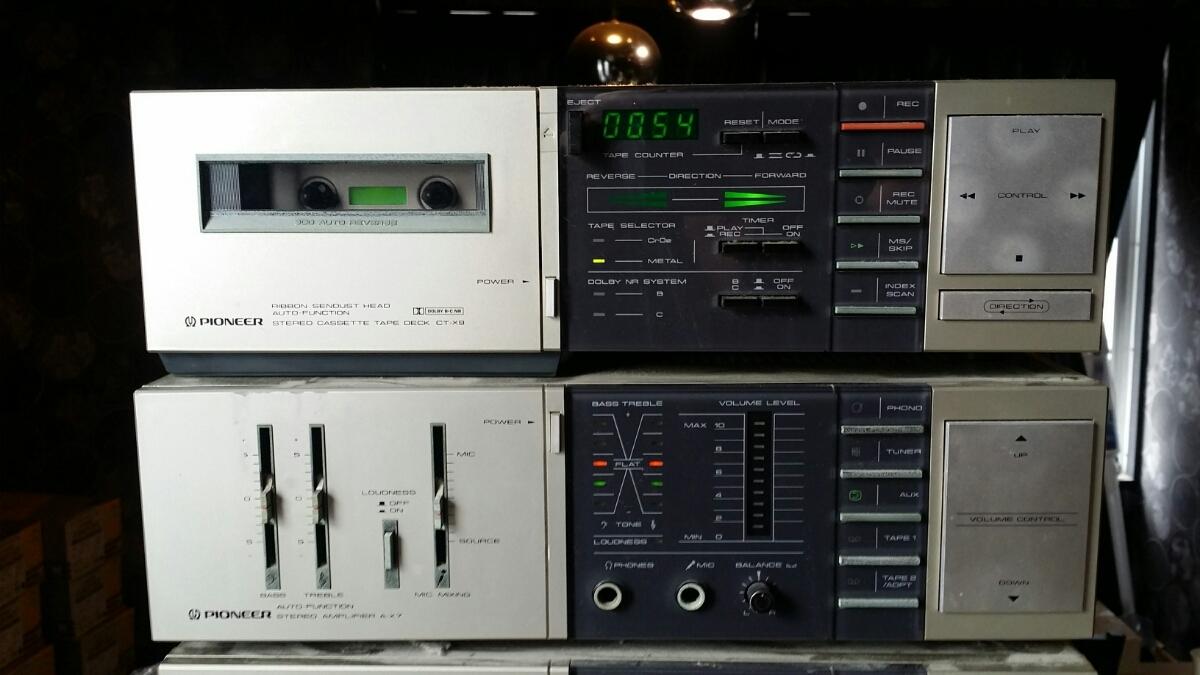 【レア レトロ】パイオニア(カセットF-X9/アンプA-X7/プレーヤーPL-X9/サウンドプロセッサーCA-X7/チューナーF-X9)ジャンク_画像2