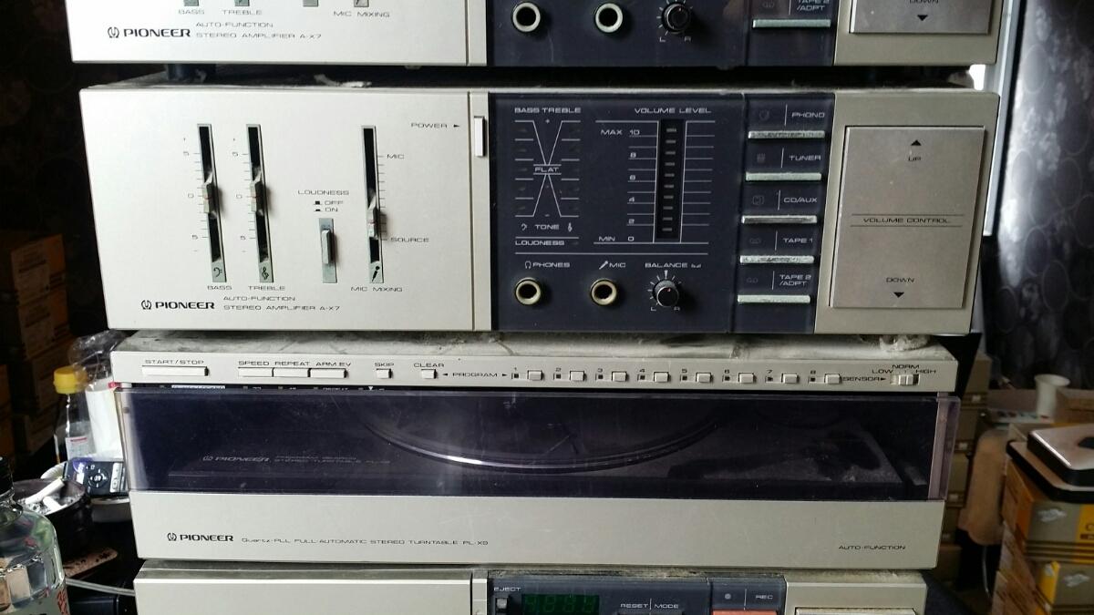 【レア レトロ】パイオニア(カセットF-X9/アンプA-X7/プレーヤーPL-X9/サウンドプロセッサーCA-X7/チューナーF-X9)ジャンク_画像3
