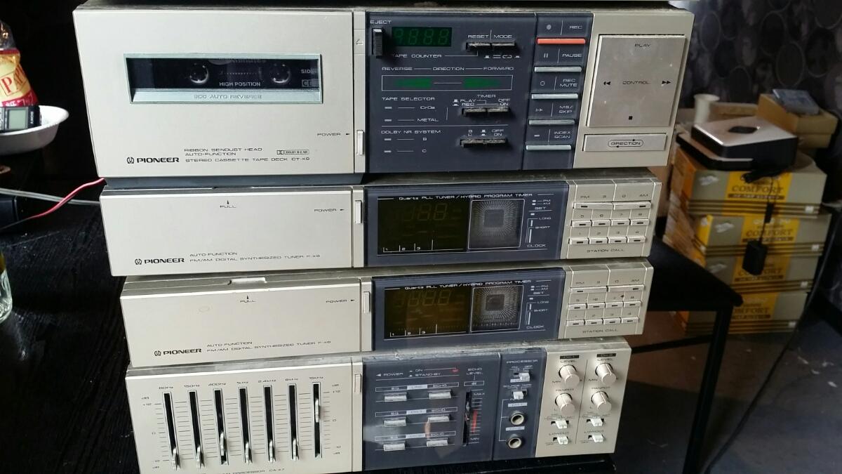【レア レトロ】パイオニア(カセットF-X9/アンプA-X7/プレーヤーPL-X9/サウンドプロセッサーCA-X7/チューナーF-X9)ジャンク_画像5