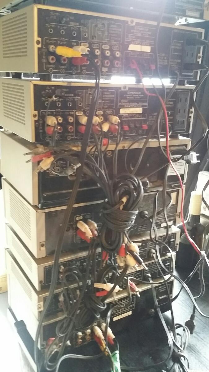 【レア レトロ】パイオニア(カセットF-X9/アンプA-X7/プレーヤーPL-X9/サウンドプロセッサーCA-X7/チューナーF-X9)ジャンク_画像6