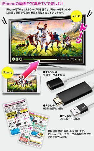 ★送料無料★iPhone用TVキャストケーブル 新品_画像2