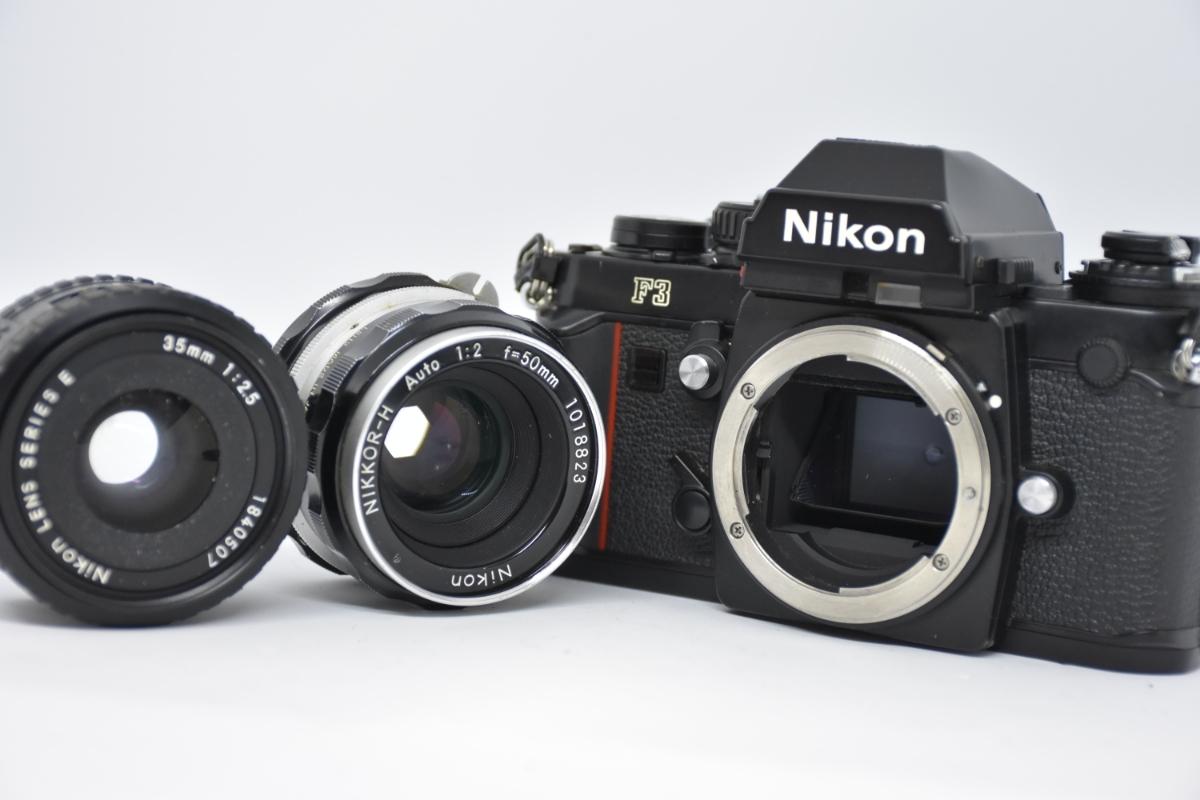 1円~ Nikon F3 ボディ おまけレンズ50mm30mm♯23
