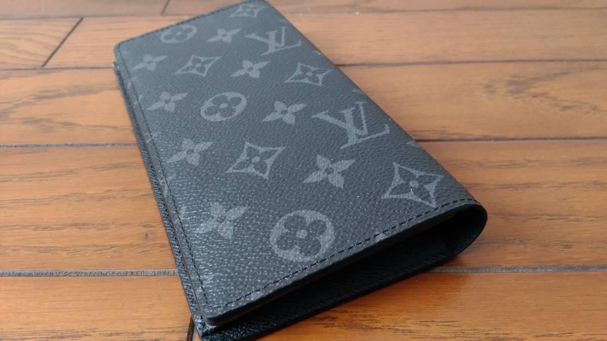 【未使用品】 ルイヴィトン LOUIS VUITTON モノグラム・エクリプス 財布 ポルトフォイユ・ブラザ M61697長財布 メンズ ウォレット_画像4