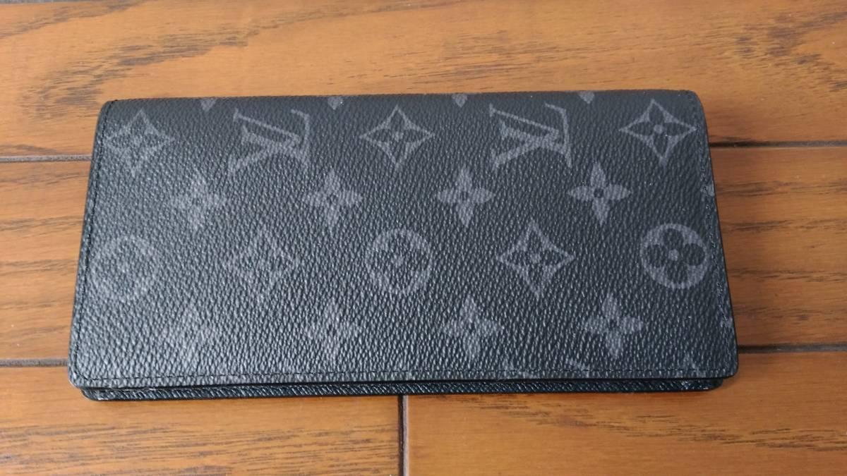 【未使用品】 ルイヴィトン LOUIS VUITTON モノグラム・エクリプス 財布 ポルトフォイユ・ブラザ M61697長財布 メンズ ウォレット
