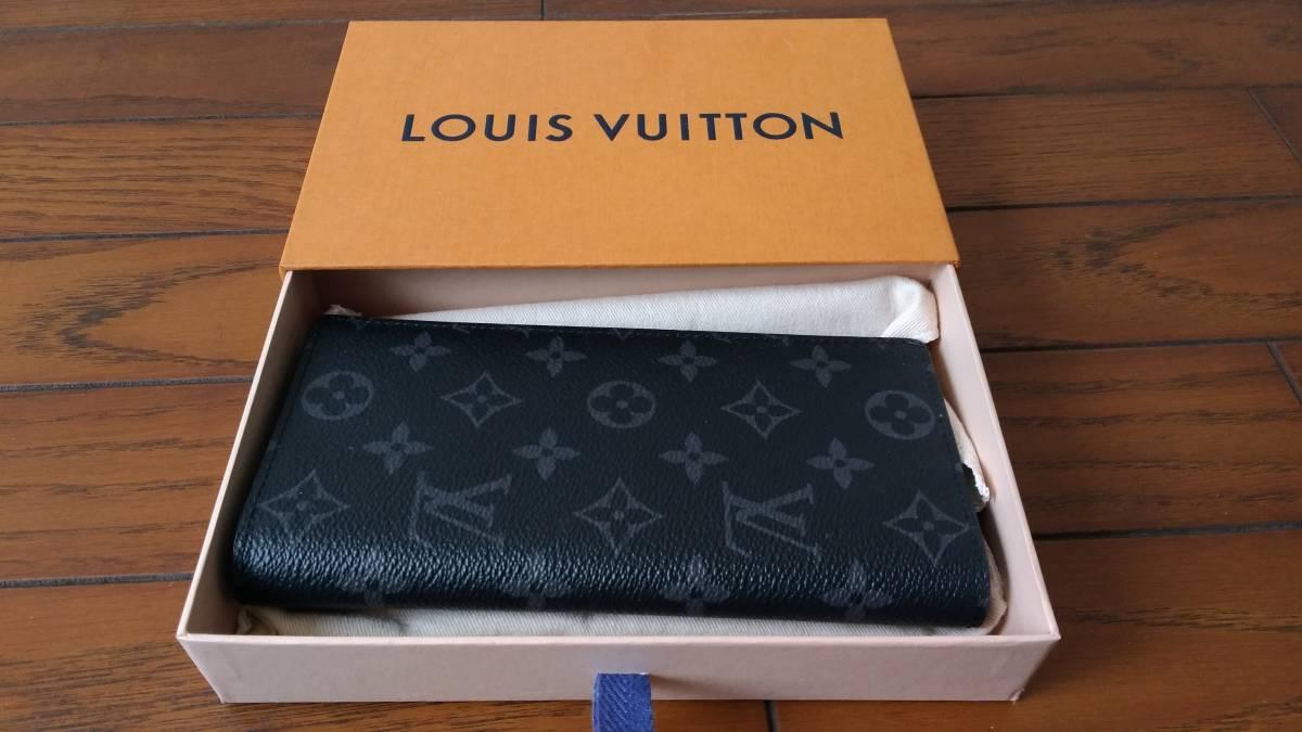 【未使用品】 ルイヴィトン LOUIS VUITTON モノグラム・エクリプス 財布 ポルトフォイユ・ブラザ M61697長財布 メンズ ウォレット_画像5