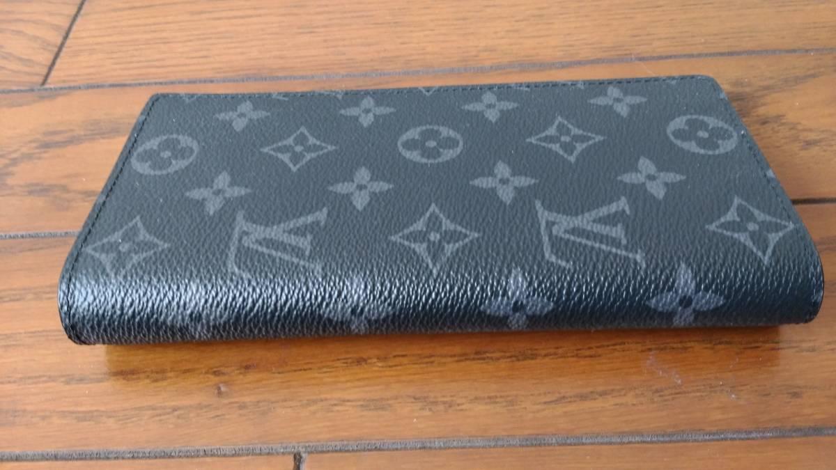 【未使用品】 ルイヴィトン LOUIS VUITTON モノグラム・エクリプス 財布 ポルトフォイユ・ブラザ M61697長財布 メンズ ウォレット_画像2