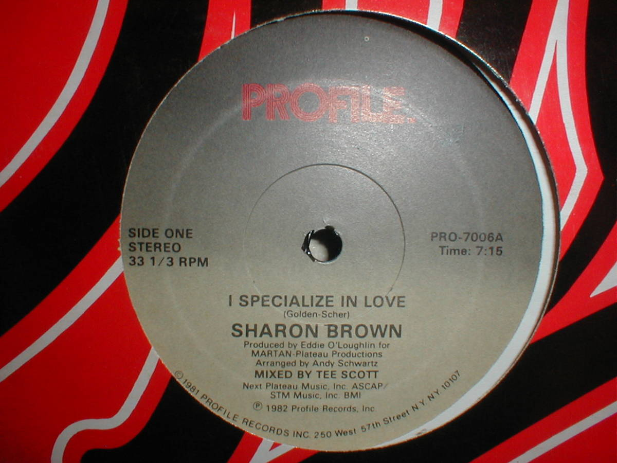 Sharon Brown - I Specialize In Love 12 INCH_画像1