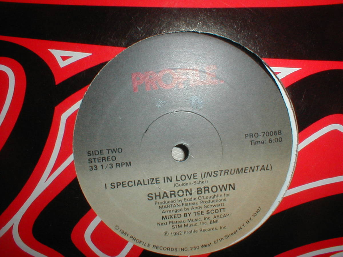Sharon Brown - I Specialize In Love 12 INCH_画像2