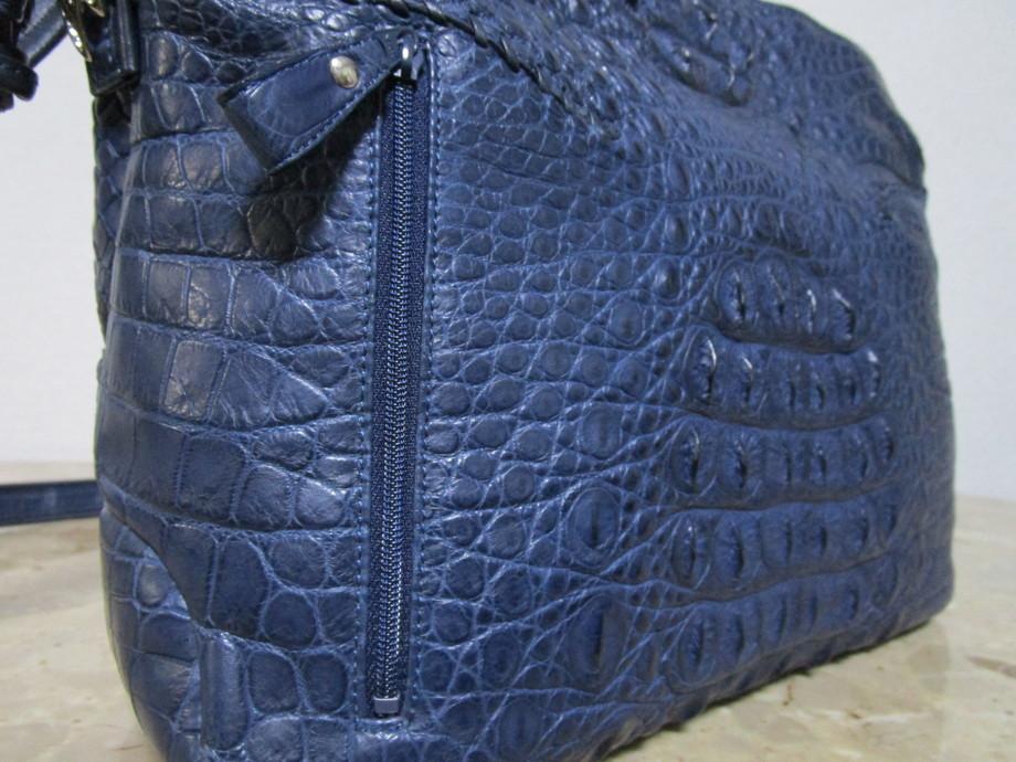 極美品 / 本物・高級 ◆ マットクロコダイル ◆ バッグ / ショルダーバッグ ◆ JRA公認 ◆ 斜め掛けOK ■ 34cm ■_画像7