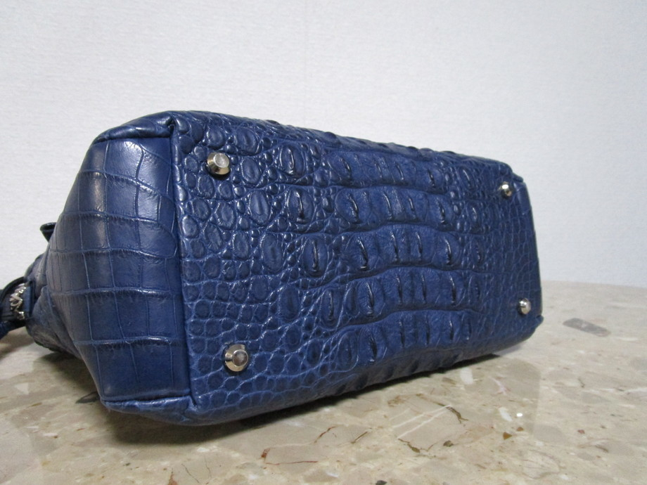 極美品 / 本物・高級 ◆ マットクロコダイル ◆ バッグ / ショルダーバッグ ◆ JRA公認 ◆ 斜め掛けOK ■ 34cm ■_画像5