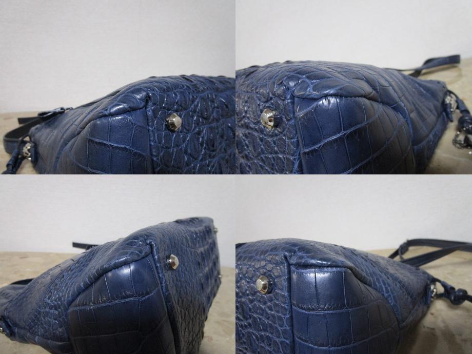 極美品 / 本物・高級 ◆ マットクロコダイル ◆ バッグ / ショルダーバッグ ◆ JRA公認 ◆ 斜め掛けOK ■ 34cm ■_画像6