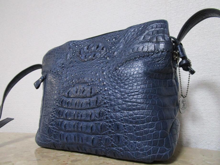 極美品 / 本物・高級 ◆ マットクロコダイル ◆ バッグ / ショルダーバッグ ◆ JRA公認 ◆ 斜め掛けOK ■ 34cm ■