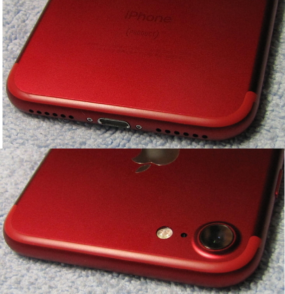 微小傷2箇所のみ 極美品 アップルストア 購入品 SIMフリー Apple iPhone7 128GB PRODUCT レッド iPhone 7 スピード発送 A1779 NPRX2J/A_画像5