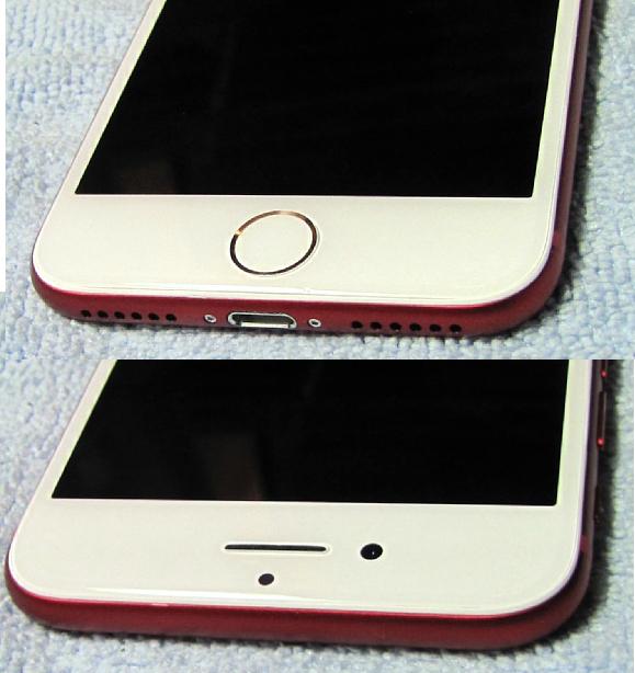 微小傷2箇所のみ 極美品 アップルストア 購入品 SIMフリー Apple iPhone7 128GB PRODUCT レッド iPhone 7 スピード発送 A1779 NPRX2J/A_画像4