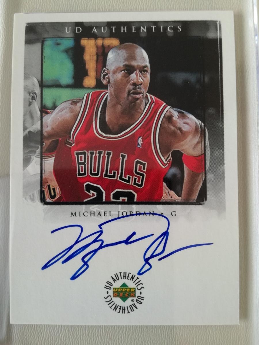 【レア】NBA MICHAEL JORDAN 直筆サインカード 98-99 Upper Deck Encore UD Authentics A