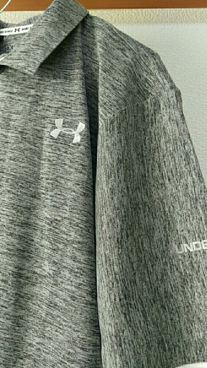 アンダーアーマー★ポロシャツ★JEIW new  L ホワイト/ライトグレーブラック/シルバー 迅速発送/送料無料あり_画像2