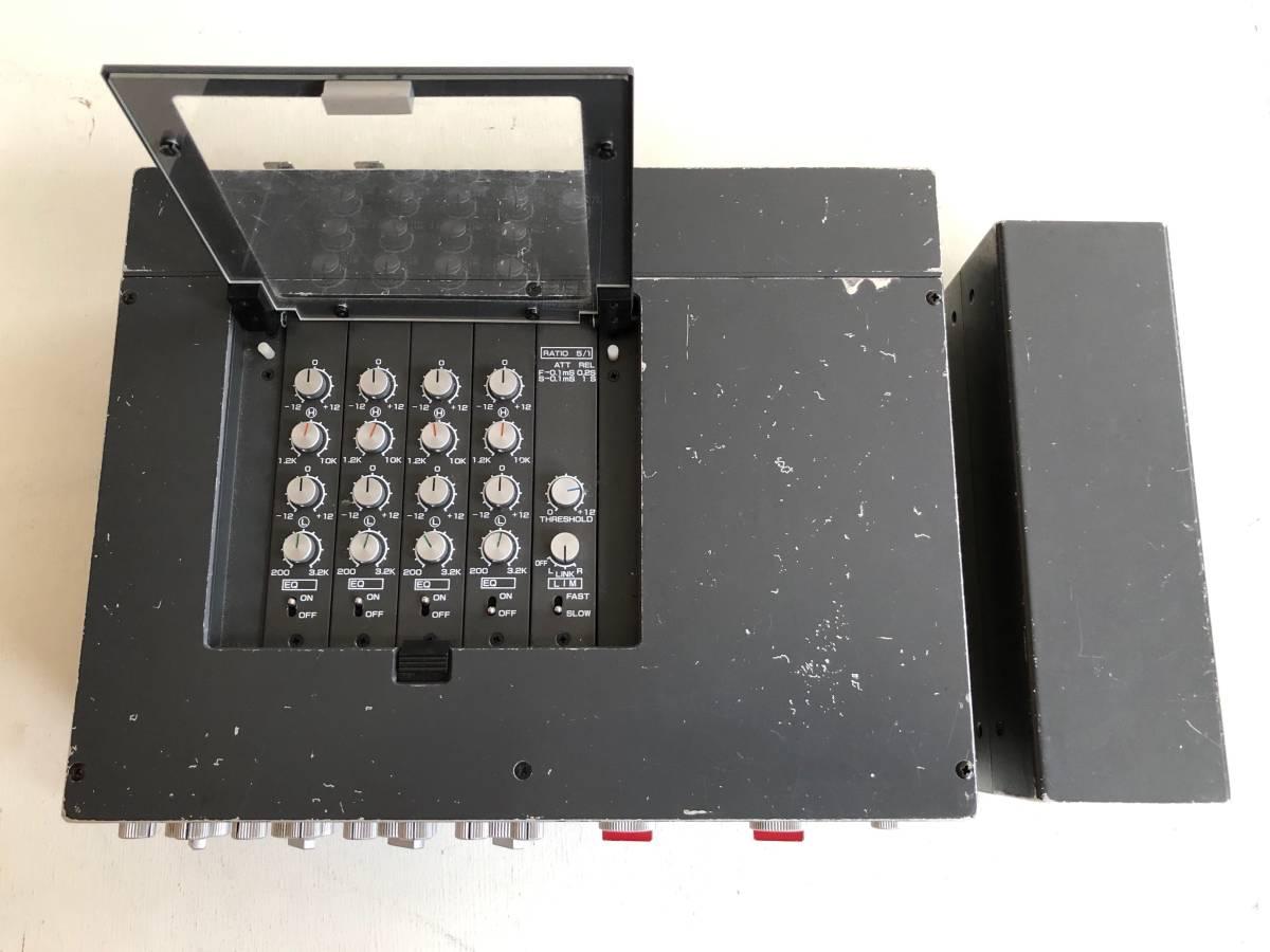 完動品 SIGMA EFP-402L 4CHミキサー コンパクトステレオ & SS-4061 Mk-Ⅲ P.S パワーサプライ セット / 専用ケース 接続コード 付属_画像4
