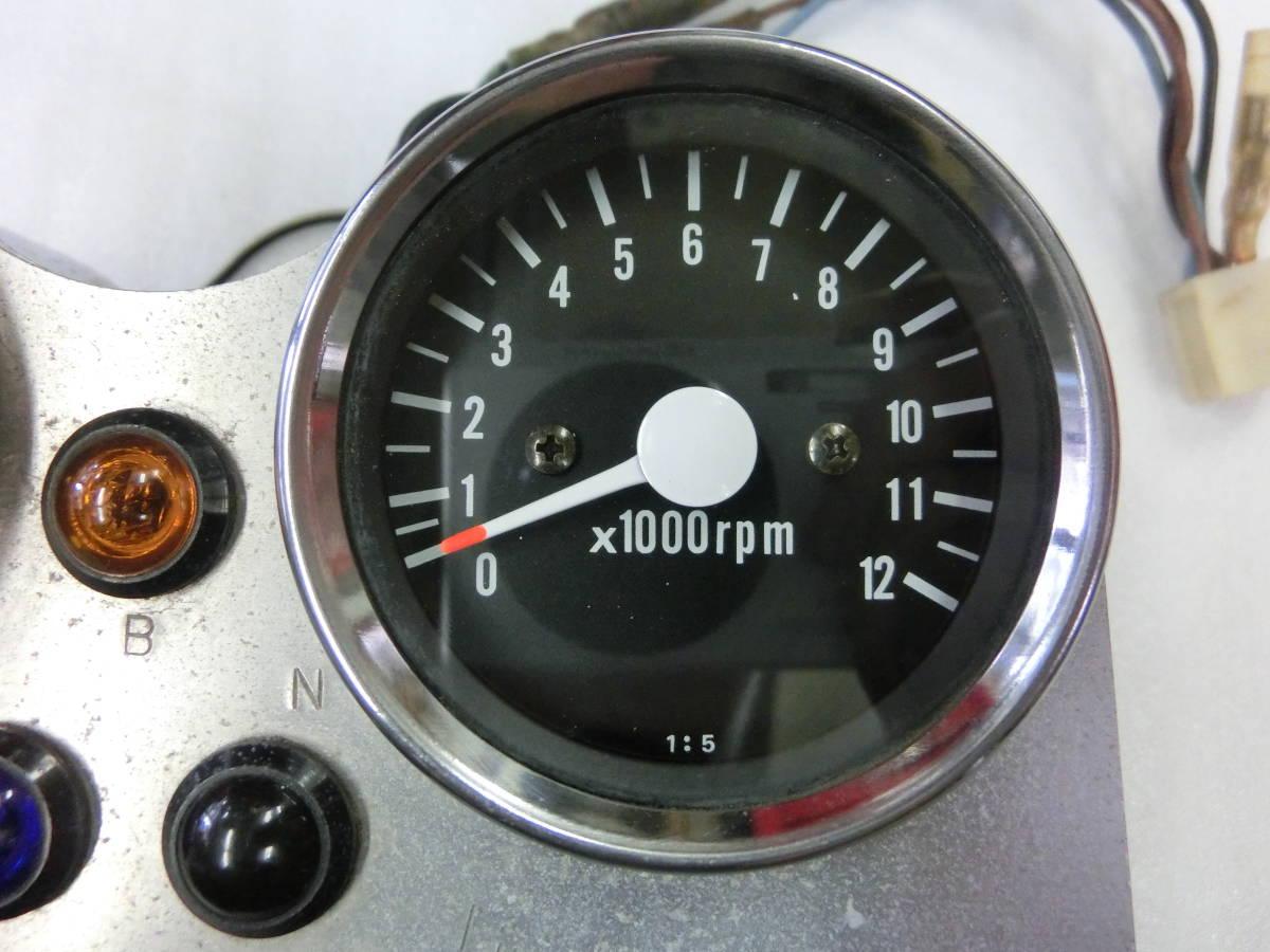SR400 SR500 社外品 メーターセット スピードメーター タコメーター ミニメーター 1JR 2J2 3,108㎞ Lindbegh クラブマン/W650/CB400SS _画像4