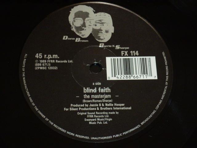 DIANA BROWN & BARRIE K SHARPE / BLIND FAITH / 1989年盤 / FX 114 / UK盤 / 試聴検査済み_画像3