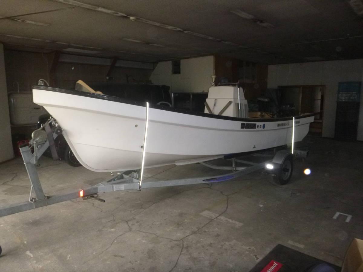 釣り船(和船・ヤマハ) トレーラー付き 即使用可