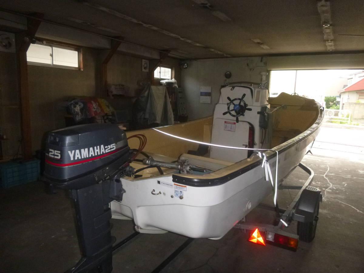 釣り船(和船・ヤマハ) トレーラー付き 即使用可_画像4