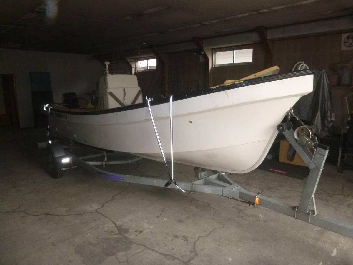 釣り船(和船・ヤマハ) トレーラー付き 即使用可_画像2