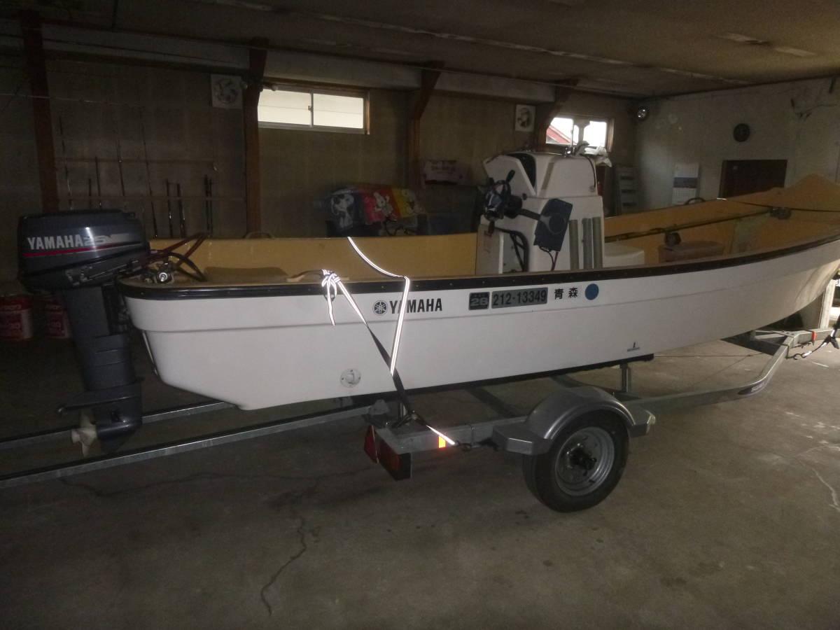 釣り船(和船・ヤマハ) トレーラー付き 即使用可_画像3